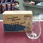 Trudeau Stemless Wine Glasses